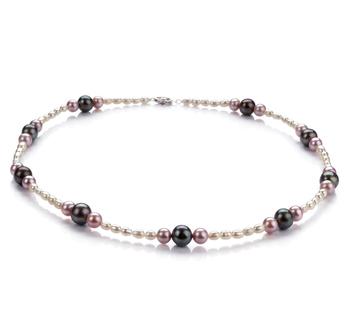 Ida Multicolore 3-8mm Qualità A - Collana di Perle di Acqua Dolce - Argento Sterling 925