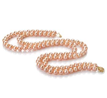 Jamilia Rosa 7-8mm Qualità AA - Collana di Perle di Acqua Dolce
