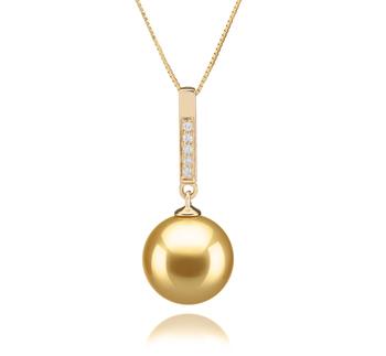 Janet Oro 10-11mm Qualità AAA - Perla Pendente Dei Mari del Sud - Oro Giallo 14k