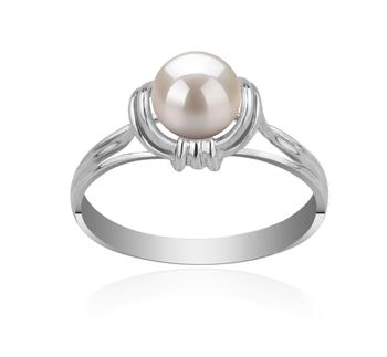 Gioia Bianco 6-7mm Qualità AAAA - Anello Perla di Acqua Dolce - Argento Sterling 925