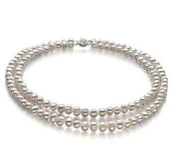 Julienne Bianco 6-7mm Qualità A - Collana di Perle di Acqua Dolce