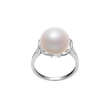 Kalina Bianco 11-12mm Qualità AAA - Anello Perla di Acqua Dolce - Argento Sterling 925