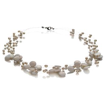 Keita Bianco 4-10mm Qualità A - Collana di Perle di Acqua Dolce