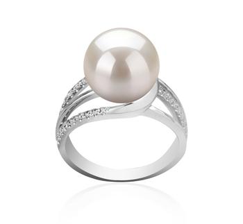 Layana Bianco 10-11mm Qualità AAAA - Anello Perla di Acqua Dolce - Argento Sterling 925