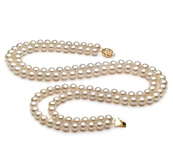 Liah Bianco 6-7mm Qualità AA - Collana di Perle di Acqua Dolce