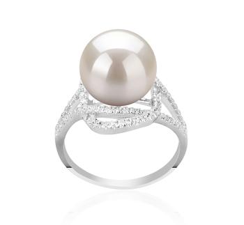 Maddie Bianco 10-11mm Qualità AAAA - Anello Perla di Acqua Dolce - Argento Sterling 925