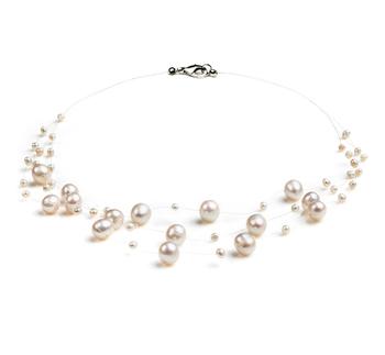 Maria Bianco 3-9mm Qualità A - Collana di Perle di Acqua Dolce