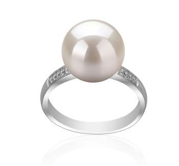 Oana Bianco 10-11mm Qualità AAAA - Anello Perla di Acqua Dolce - Argento Sterling 925