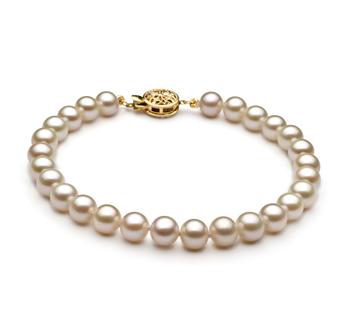 Bianco 6-7mm Qualità AAA - Braccialetto di Perle di Acqua Dolce