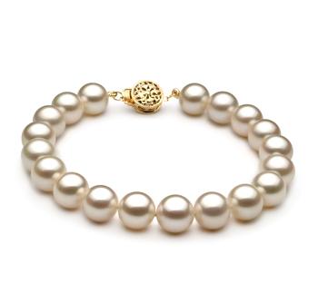 Bianco 8-8.5mm Qualità AAAA - Braccialetto di Perle di Acqua Dolce - Oro Riempito