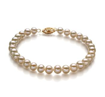 Bianco 5-5.5mm Qualità AA - Braccialetto di Perle di Acqua Dolce