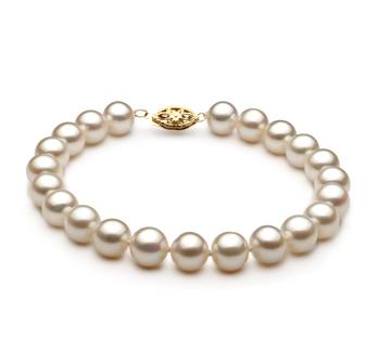Bianco 7.5-8.5mm Qualità AA - Braccialetto di Perle di Acqua Dolce