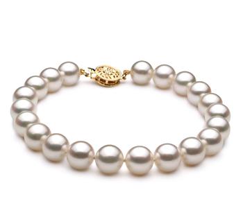 Bianco 8-9mm Qualità AA - Braccialetto di Perle Akoya Giapponese