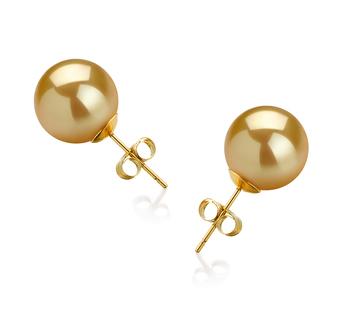 Oro 10-11mm Qualità AAA - Set Orecchini Dei Mari del Sud