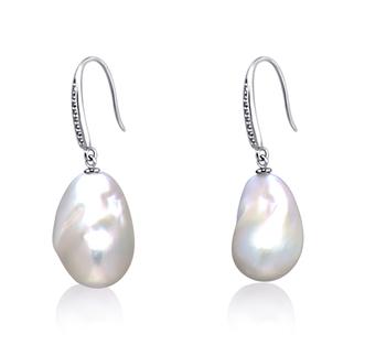 Bianco 12-13mm Qualità AA+ - Set Orecchini di Perle Acqua Dolce - Edison - Argento Sterling 925