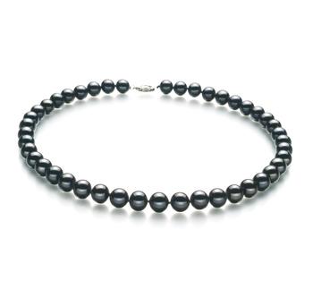 Nero 8.5-9mm Qualità AA - Collana di Perle di Acqua Dolce - Argento Sterling 925