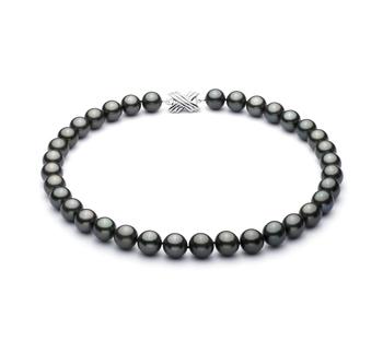 Nero 10.9-13.8mm Qualità AAA - Collana di Perle Di Tahiti - Oro Bianco 14k