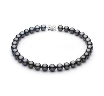 Nero 12.01-13.08mm Qualità AAA - Collana di Perle Di Tahiti - Oro Bianco 14k