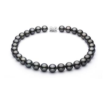 Nero 13-15.5mm Qualità AAA - Collana di Perle Di Tahiti - Oro Bianco 14k