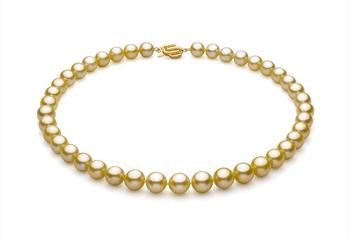 Oro 9-11.7mm Qualità AAA - Collana di Perle Dei Mari del Sud - Oro Giallo 14k
