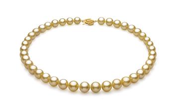 Oro 9.04-11.83mm Qualità AAA - Collana di Perle Dei Mari del Sud - Oro Giallo 14k