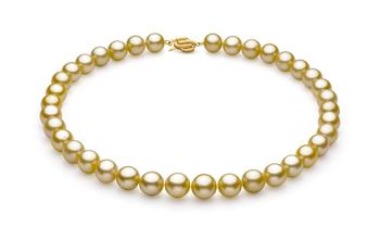 Oro 10.89-12.75mm Qualità AAA - Collana di Perle Dei Mari del Sud - Oro Giallo 14k