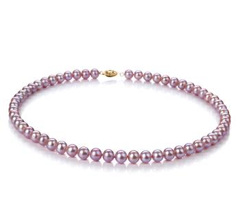 Lavanda 6-6.5mm Qualità AA - Collana di Perle di Acqua Dolce - Oro Riempito