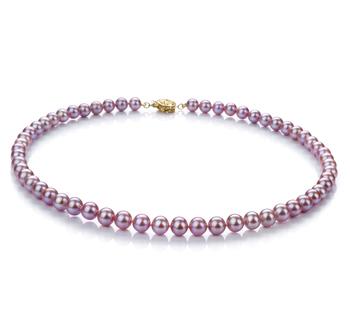 Lavanda 6-7mm Qualità AAA - Collana di Perle di Acqua Dolce - Oro Riempito