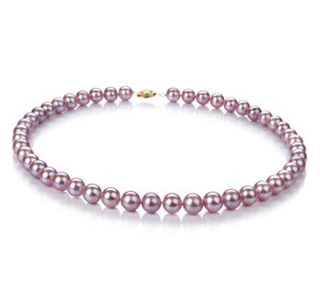 Lavanda 8.5-9mm Qualità AA - Collana di Perle di Acqua Dolce