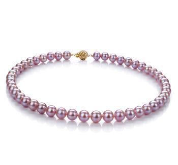 Lavanda 8.5-9.5mm Qualità AAA - Collana di Perle di Acqua Dolce - Oro Riempito