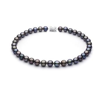 Multicolore 11.07-12.9mm Qualità AAA - Collana di Perle Di Tahiti - Oro Bianco 14k
