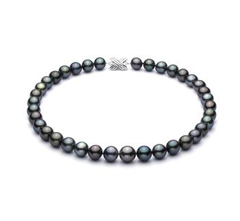 Multicolore 11.1-14.6mm Qualità AA+ - Collana di Perle Di Tahiti - Oro Bianco 14k