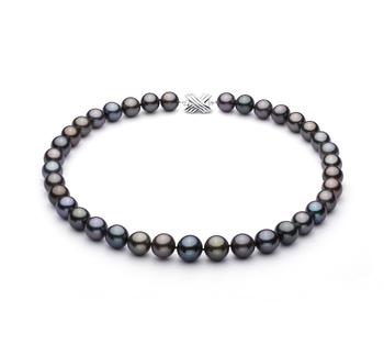 Multicolore 11.09-13.54mm Qualità AA+ - Collana di Perle Di Tahiti - Oro Bianco 14k