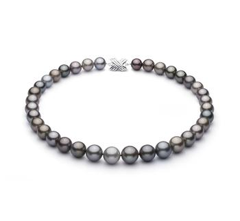Multicolore 11-14.6mm Qualità AAA - Collana di Perle Di Tahiti - Oro Bianco 14k