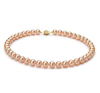 Rosa 8.5-9mm Qualità AAAA - Collana di Perle di Acqua Dolce - Oro Riempito