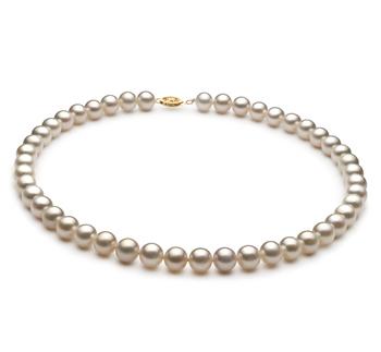 Bianco 8.5-9mm Qualità AA - Collana di Perle di Acqua Dolce - Oro Riempito