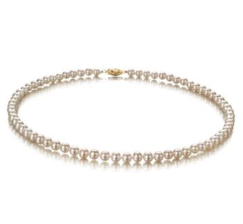 Bianco 5-5.5mm Qualità AA - Collana di Perle di Acqua Dolce