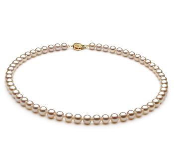 Bianco 6-7mm Qualità AAA - Collana di Perle di Acqua Dolce
