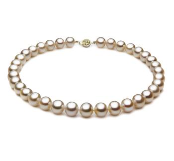 Bianco 10.5-11.5mm Qualità AAA - Collana di Perle di Acqua Dolce - Oro Riempito