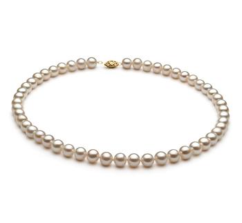 Bianco 7.5-8.5mm Qualità AA - Collana di Perle di Acqua Dolce