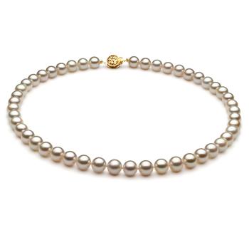Bianco 7.5-8mm Qualità AA - Collana di Perle Akoya Giapponese