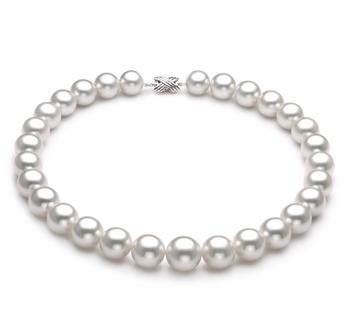 Bianco 14-17mm Qualità AAA - Collana di Perle Dei Mari del Sud - Oro Bianco 14k