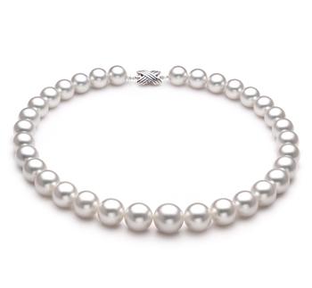 Bianco 12-15mm Qualità AAA - Collana di Perle Dei Mari del Sud - Oro Bianco 14k