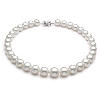 Bianco 12-16mm Qualità AAA - Collana di Perle Dei Mari del Sud - Oro Bianco 14k