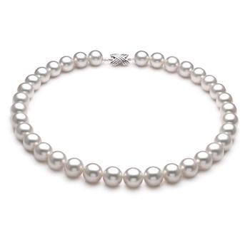 Bianco 12-13mm Qualità AAA - Collana di Perle Dei Mari del Sud - Oro Bianco 14k
