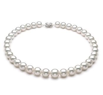 Bianco 11-14mm Qualità AAA+ - Collana di Perle Dei Mari del Sud - Oro Bianco 14k