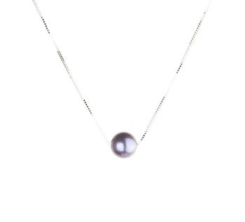 Bianco 10-10.5mm Qualità AAA - Perla Pendente di Acqua Dolce - Argento Sterling 925