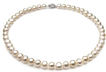 Singolo Bianco 7-8mm Qualità A - Collana di Perle di Acqua Dolce - Argento Sterling 925