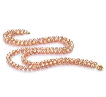 Ulrike Rosa 6-7mm Qualità AA - Collana di Perle di Acqua Dolce
