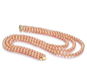 Verena Rosa 6-7mm Qualità AA - Collana di Perle di Acqua Dolce